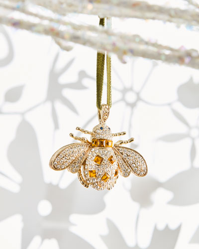 Amber Bee Christmas Ornament