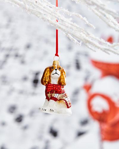 Cavalier King Bienheim in Tan Sweater Ornament