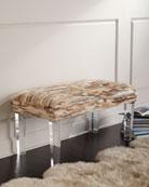 Leta Mink and Acrylic Bench