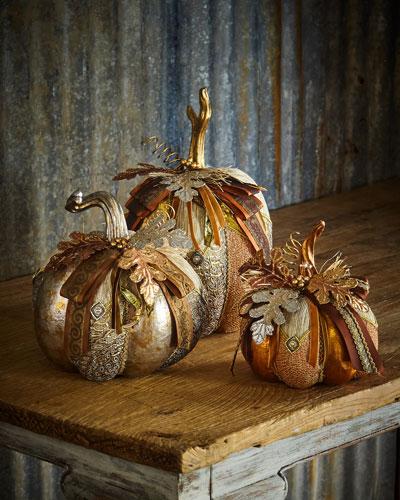 Assorted Pumpkins, Set of 3
