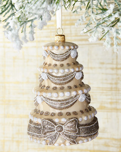 Congrats & Best Wishes Cake Ornament