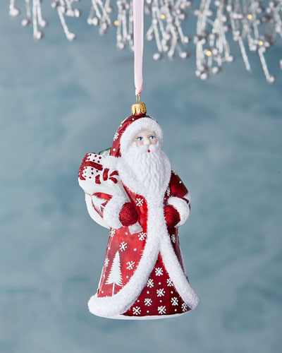 Regal Santa Ornament