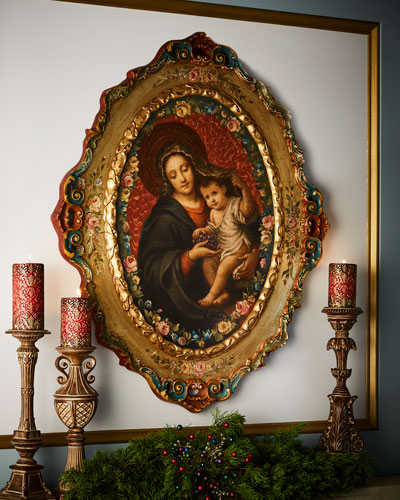 Madonna and Child Oval Painting