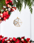 Gold & Glitter Collection Shiny White/Faux-Jewel Ornament