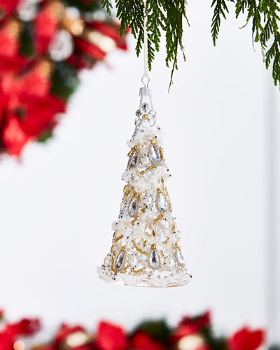 White & Silver Collection Clear/Silvery Christmas Tree Ornament