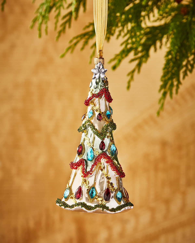 Faux-Jewel Christmas Tree Ornament