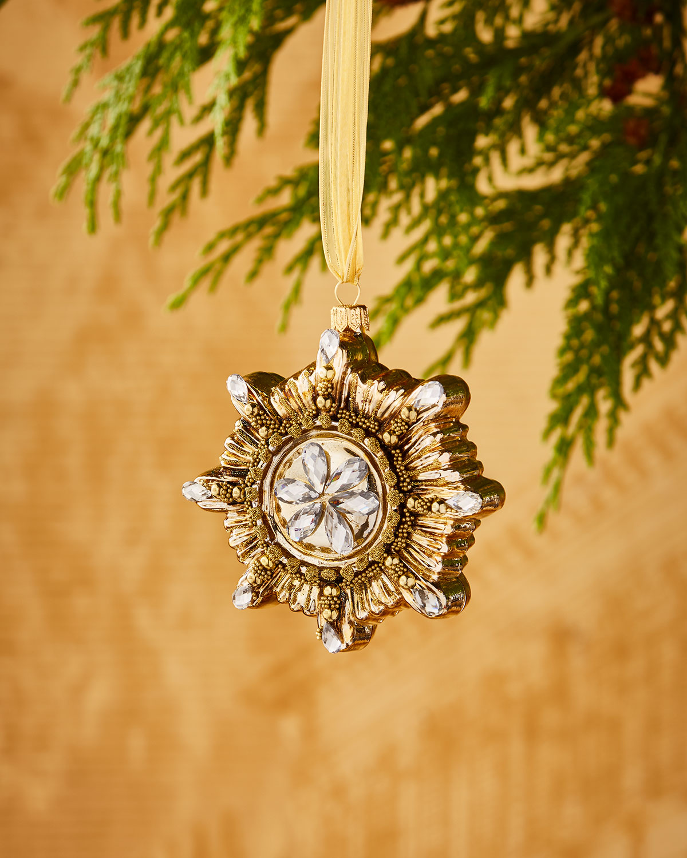 Golden Sunburst Ornament