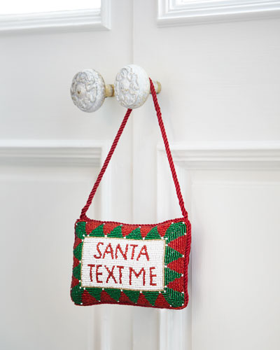 Sudha Pennathur Santa, Text Me Door Knocker