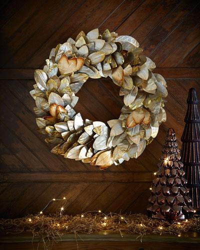 Gold & Glitter Collection Magnolia Wreath