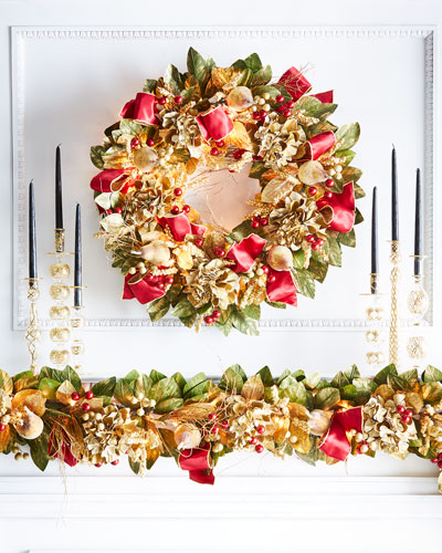 Gold & Glitter Collection Pre - Lit Wreath