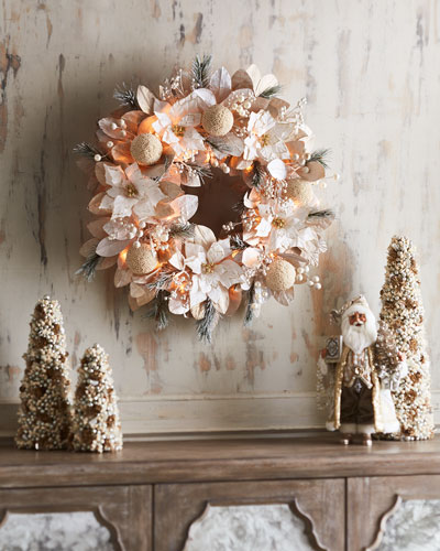 White & Silver Collection Pre - Lit Wreath