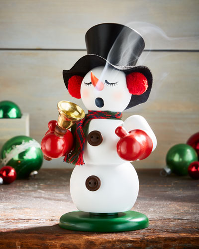 Snowman with Bell Nutcracker