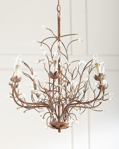 6-Light Iron Branch Chandelier