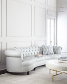 Rebecca Leather Mirrored Sofa