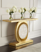Gianna Gold-Fluted Entry Table