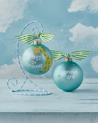 quick look coton colors babys first christmas giraffe boy christmas ornament