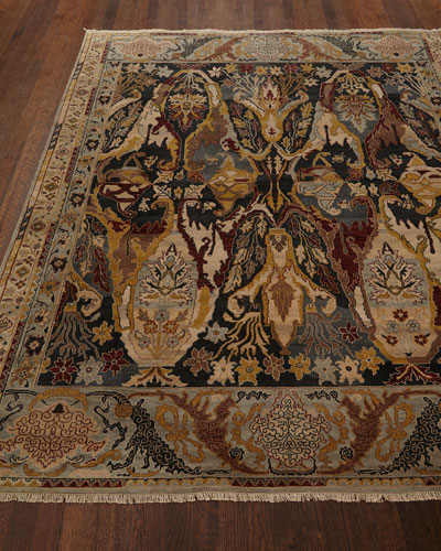 Hand Knotted New Zealand Wool Rug Neiman Marcus