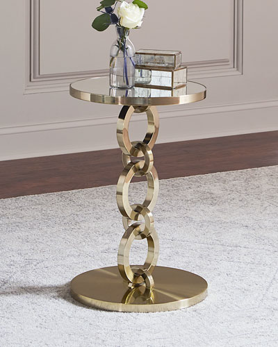 Golden Bracelet Side Table