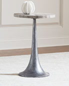 Falcor Snakeskin-Top Side Table