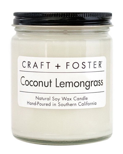 Coconut Lemongrass Candle, 8 oz.