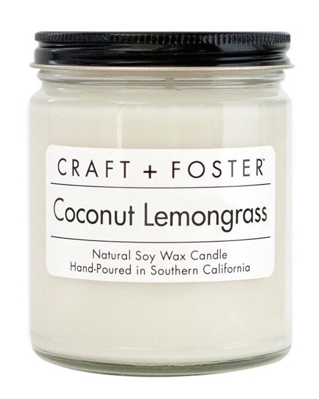 Craft + Foster Coconut Lemongrass Candle, 8 Oz.