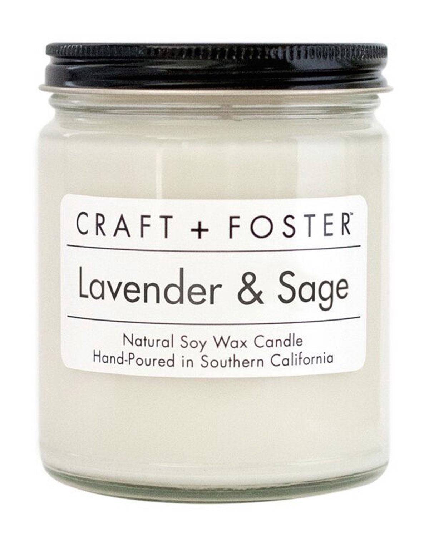 Craft + Foster Lavender & Sage Candle, 8 Oz.