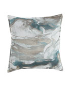 "Caspin Marbled Pillow, 22""Sq."