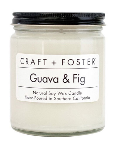 Craft + Foster Guava & Fig Candle, 8 Oz.