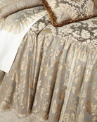 King Elegance Skirted Coverlet