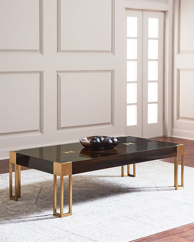Allura Brass Accent Coffee Table