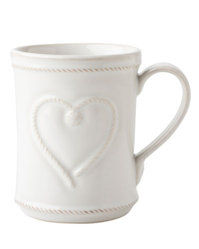 Berry & Thread Whitewash Cup Full of Love Mug