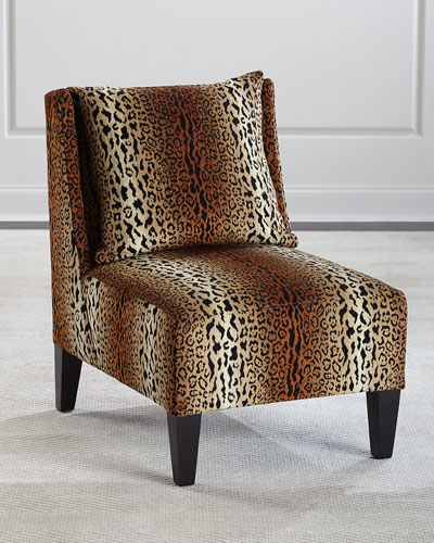 Asher Cheetah Slipper Chair