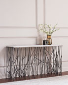 Silver Strands Console Table