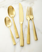 20-Piece Lucca Brushed Golden Flatware Service