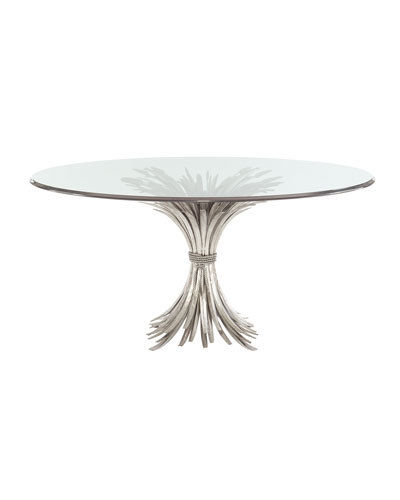 Gwinn Glass-Top Dining Table