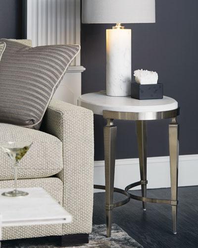 Damonica Oak Oval Side Table