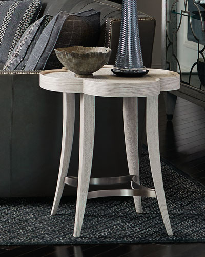 Damonica White Oak Side Table