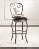 Markel Leather Counter Stool