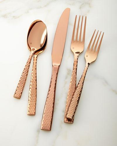 20-Piece Lucca Rose Golden Flatware Service