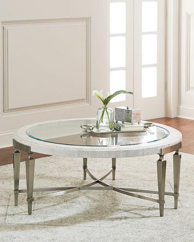 Damonica White Oak Round Coffee Table