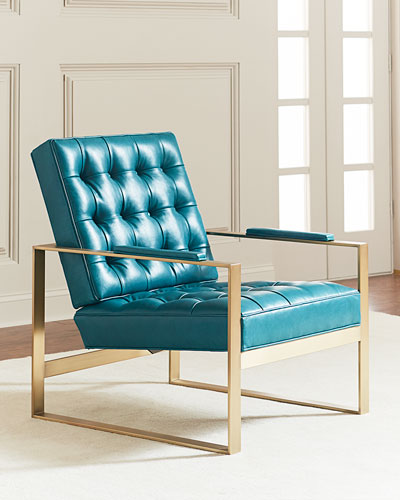 Dandy Tufted Leather Accent Chair