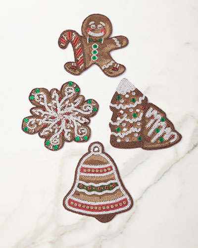 Gingerbread Coasters, Set of 4