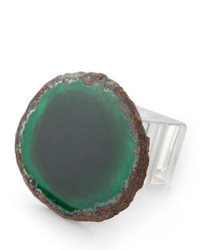 Agate Napkin Rings, Set of 4
