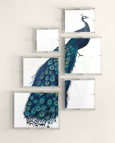 6-Panel Peacock Wall Art
