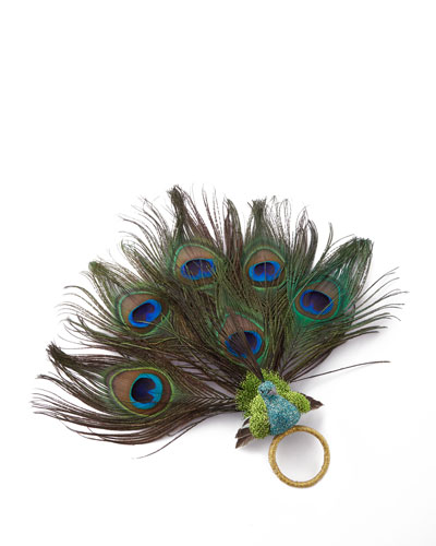 Peacock Napkin Ring