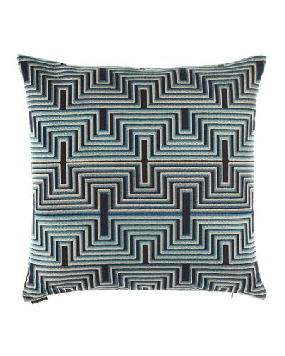 Beckham Blue Pillow, 24