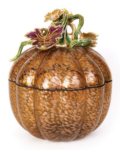 Leaf & Vine Jeweled Large Glass Jar