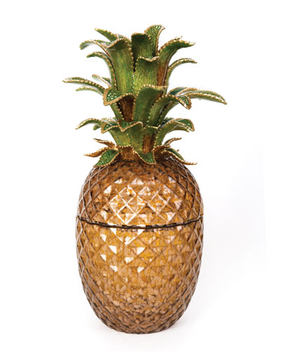 Palm Leaf Jeweled Glass Jar