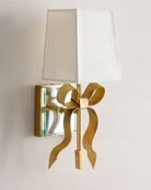 Cream Ellery Grosgrain Bow Small Sconce