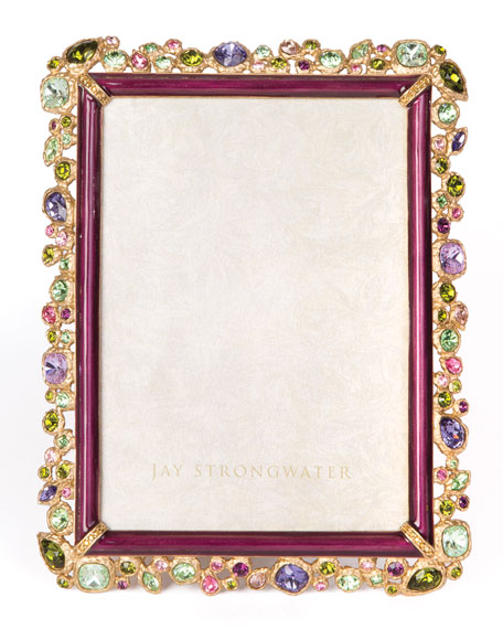 """Jay Strongwater Leslie Bejeweled Picture Frame, 5"""" x 7"""""""
